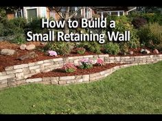 How to Build a Small Retaining Wall - YouTube