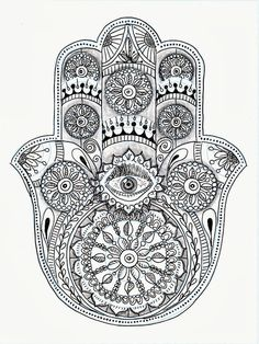 Efie goes Zentangle: hamsa-hand van Ben Kwok