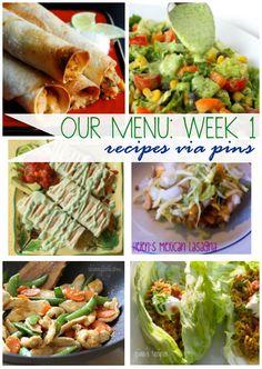 1 week meal plan from www.vintagesunshine.com. All healthy versions of favorite classics! #mealplan #healthy #glutenfree
