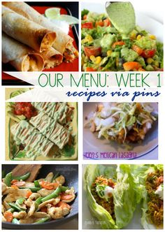 1 week meal plan from www.vintagesunshine.com. All healthy versions of favorite classics! #mealplan #healthy #glutenfree