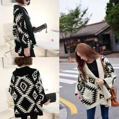 Aztec-Womens-Open-Front-Wrap-Cape-Sweater-Jackets-Cardigan-Loose-Oversized-Coats