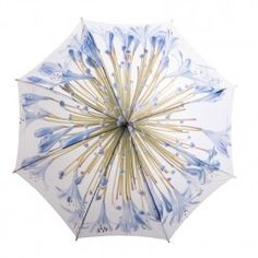 Agapanthus Print Umbrella from South Africa Photographer and Designer Clinton Friedman, a passionate and humble individual, who's connection to nature runs deep African Accessories, Umbrellas Parasols, Rain Umbrella, Agapanthus, Baby Blue, Art Pieces, Blue And White, Contemporary, My Style