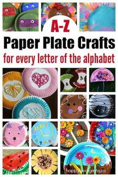 Paper Plate Crafts 400750066823569179 - A-Z Paper plate crafts! One or more paper plate crafts for every letter of the alphabet. Easy, inexpensive ideas for home or the preschool classroom! – Happy Hooligans Source by Abc Crafts, Alphabet Crafts, Letter A Crafts, Alphabet Activities, Toddler Crafts, Toddler Activities, Preschool Activities, Preschool Classroom, Abc Kindergarten