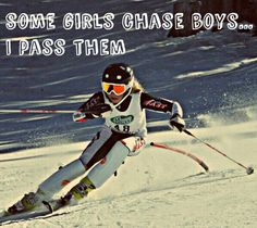 Some girls chase boys... I pass them