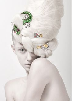 """PURE SEASON"" by Silvia Bratanova this is just beautiful use of stones and jewels to create such an unusual avant Garde updo for hairstyle 2013  #ukhairdressers love this"