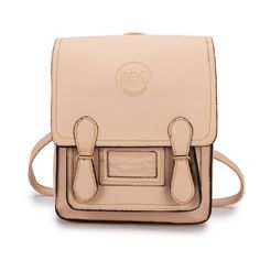 Fashion Michael Kors Logo Signature Medium Apricot Backpacks Online!