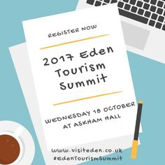 Just sent out the invites for our 2017 #EdenTourismSummit on 18 October at Askham Hall - so check your inboxes! Spaces are limited so RSVP asap!  Delighted to announce our speakers are from Carlisle Airport, VisitBritain, Cumbria Toruism, Campaign for Better Transport and the AA.  Plus workshops from Sustrans and the Ramblers, Virgin Trains and the Settle to Carlisle Railway and Historic England.  https://www.eden.gov.uk/business-and-trade/tourism-in-eden/eden-tourism/eden-tourism-summit