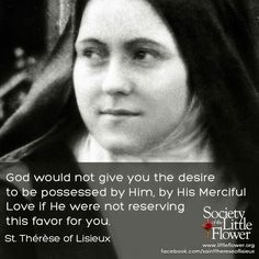 His merciful Love... - St. Therese of Lisieux