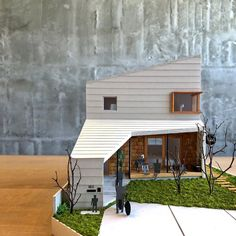 Architecture Concept Drawings, Modern Architecture, Gable House, Arch Model, Modern Contemporary Homes, Small Buildings, Craftsman House Plans, Future House, Restaurant