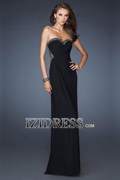 Sheath/Column Strapless Sweetheart Chiffon Prom Dress - IZIDRESS.com at IZIDRESS.com