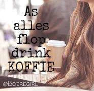 as alles flop drink koffie