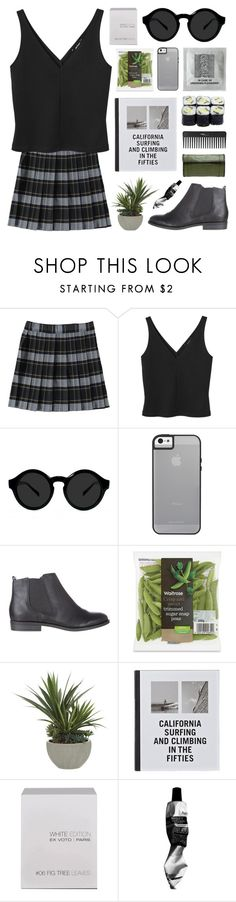"""uma thurman"" by jesicacecillia ❤ liked on Polyvore featuring French Toast, Monki, Dorothy Perkins, Lux-Art Silks, Patagonia, Ex Voto Paris, David Jones and Sephora Collection"