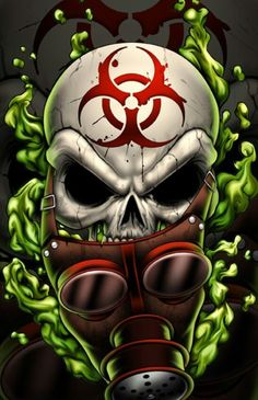 The Tattoo company I freelance for is having me design a series of 12 skull themed illustrations. Here& number Gassy. Honestly I know the subject matter can be a little cliche but I am . Gas Mask Art, Masks Art, Koch Tattoo, Skull Pictures, Skull Artwork, Skull Wallpaper, Airbrush Art, Skull Design, Street Art