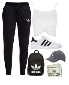 """""""Untitled #68"""" by kaylahankss ❤ liked on Polyvore featuring adidas Originals, Topshop, adidas and Ralph Lauren"""