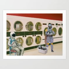 I paint astronauts and, sometimes, dinosaurs. See more of my work at www.astronautdinosaur.com