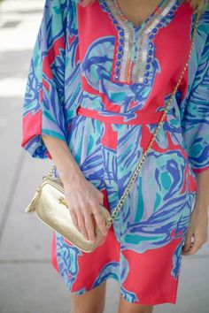 adb4c249b933 @Sarah Chintomby Tucker in Lilly Pulitzer Resort '13 Wilda Caftan Sarah  Tucker, Perfect