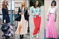 Women Blazer with Maxi Skirt or Maxi Dresses.. Yo estoy PEGAAAA con esto!! Siento que me veo flaca y alta… Lo mismo con trajes cortos!!