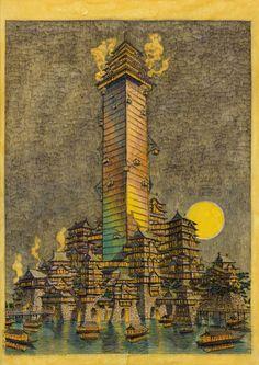 NINJAタワー〈掛け軸〉