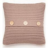 Catherine Lansfield Home Chunky Knit Cushion Cover (45x45cm) - Natural