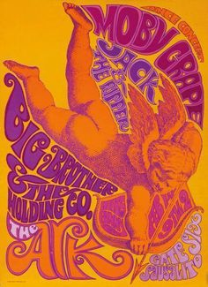 One of the earliest gigs for Janis Joplin / Big Brother & The Holding Company, as one of the opening acts for Moby Grape & Jack The Ripper. Sausalito, California, 1966.