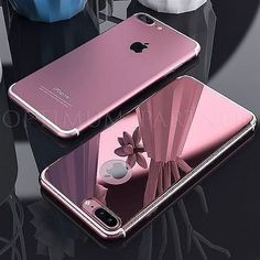 Roybens For iPhone 7 Luxury Case Cute Metal Effect Mirror Case For iPhone 6 Plus 7 Glossy Ultra Slim Hard Back Cover Apple Iphone, Iphone 100, Iphone 7 Plus Rose, Coque Iphone 7 Plus, Cute Phone Cases, Iphone Phone Cases, Ios Phone, Iphone Headphones, Android Smartphone