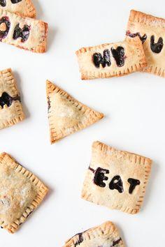 Mini Message Blueberry Hand Pies Recipe