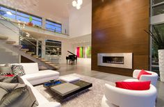 fireplace, stairs, windows