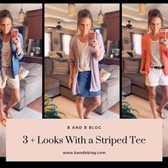 Happy Monday!! Today has been an extremely busy Monday for me—plus it's a MONDAY!! Anyone else have the Monday blues? Today on the blog I'm sharing 5 Different Ways to Style a Striped Tee‼️ It's Summer, so casual and cool is what I'm looking for. If you get a chance check the blog post out for some outfit inspiration. Link is in my bio😍😍#blog #outfitinspo #outfits #outfitinspiration #ootd #affordablestyle #affordablefashion #sales #fashionblog #fashionover40blogger #over40blogger #over50…