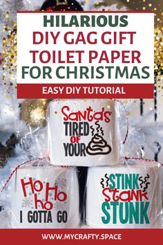 If you are looking for a funny, cheap DIY gag gift for Christmas for a family member, coworker, or white elephant party, then this is the perfect video tutorial for you. Diy Gag Gifts, Diy Gifts For Friends, Easy Diy Gifts, Gifts For Boss, Friend Birthday Gifts, 50th Birthday, Funny Gifts, Gag Gifts Christmas Funny, Christmas Diy