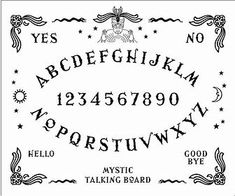 photo regarding Ouija Board Printable named 19 Least complicated Ouija board illustrations or photos inside 2018 Ouija, Witchcraft, Guide