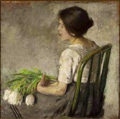 Girl with tulips, 1898 - Olga Boznańska Polish, 1865-1940