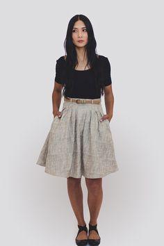 Zinnia skirt, in stiff linen?, by Colette