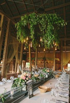 Floral and Greenery Chandeliers | Brides