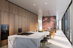David Chipperfield-designed Manhattan tower tops out #terrazzo