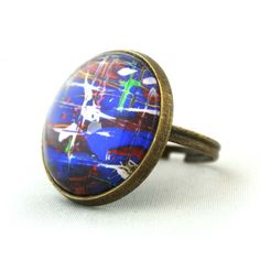 """10% SALE - Ring """"1"""" Cooperated with the Featured Artist Ashley Cella. Copper Cute Circle Shape Good for gift. £6.59, via Etsy."""