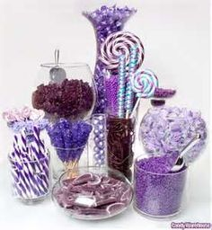 Image Search Results for purple candy table wedding