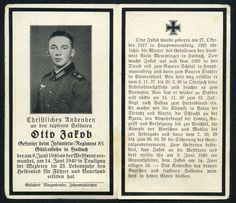 orig. WK2 STERBEBILD - DEATH CARD - Inf. Regt. 85 - Westfront / Frankreich 1940