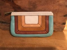 d299b5a7f2b8 Multicolor leather FOSSIL wallet coin purse  fashion  clothing  shoes   accessories  womensaccessories  wallets (ebay link)