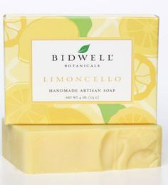 Limoncello Soap   Stimulate and revive with the fresh aromatherapy of sparkling Italian lemon and soothing vanilla bean touched with fragrant exotic florals. Organic olive oil and soothing shea butter leave skin soft and smooth.  4 oz net wt - $6.80