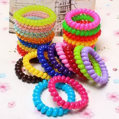 5 pz di telefono di modo fasce per capelli filo elastico in silicone rezinochki gum primavera scrunchy per le donne ragazze dei bambini della fascia