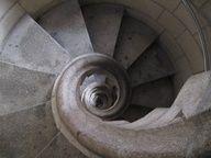 via spiral stairways