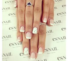 Elegant french manicure design - Follow me!!