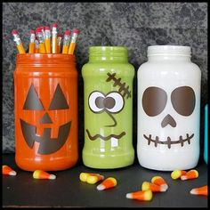 Monsterously Crazy Cute Halloween Jars