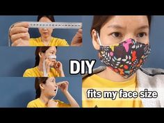 Make a mask that fits my face size / DIY face mask Diy Mask, Diy Face Mask, Crafty Projects, Sewing Projects, Breathing Mask, Bear Rug, Diy Dress, Kids And Parenting, Diy Fashion
