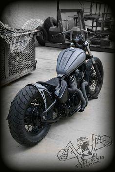 bikerMetric | custom honda yamaha metric bobbers, choppers, cafe racers: joey's vlx600 bobber | tail end customs