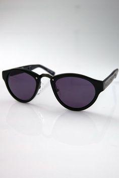 Mini Retro Sunglasses - Black/Antique Gold by Alexander Wang for $151.00