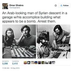 Apple founders Steve Jobs and Steve Wozniak hard at work. (Jobs was the son of a Syrian immigrant)