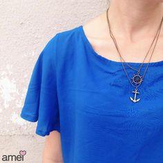 Imenso  #lojaamei #etiquetaamei #azul #bic #mar #acessorio #ancora #novidades