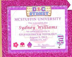 ON SALE Doc Mcstuffins Inspired Generic by YellowFieldsDesigns