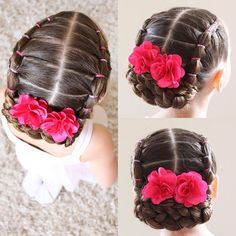 pretty easy hairstyles For Short Hair Girls Hairdos, Lil Girl Hairstyles, Dance Hairstyles, Princess Hairstyles, Pretty Hairstyles, Braided Hairstyles, Toddler Hairstyles, Teenage Hairstyles, Simple Hairstyles